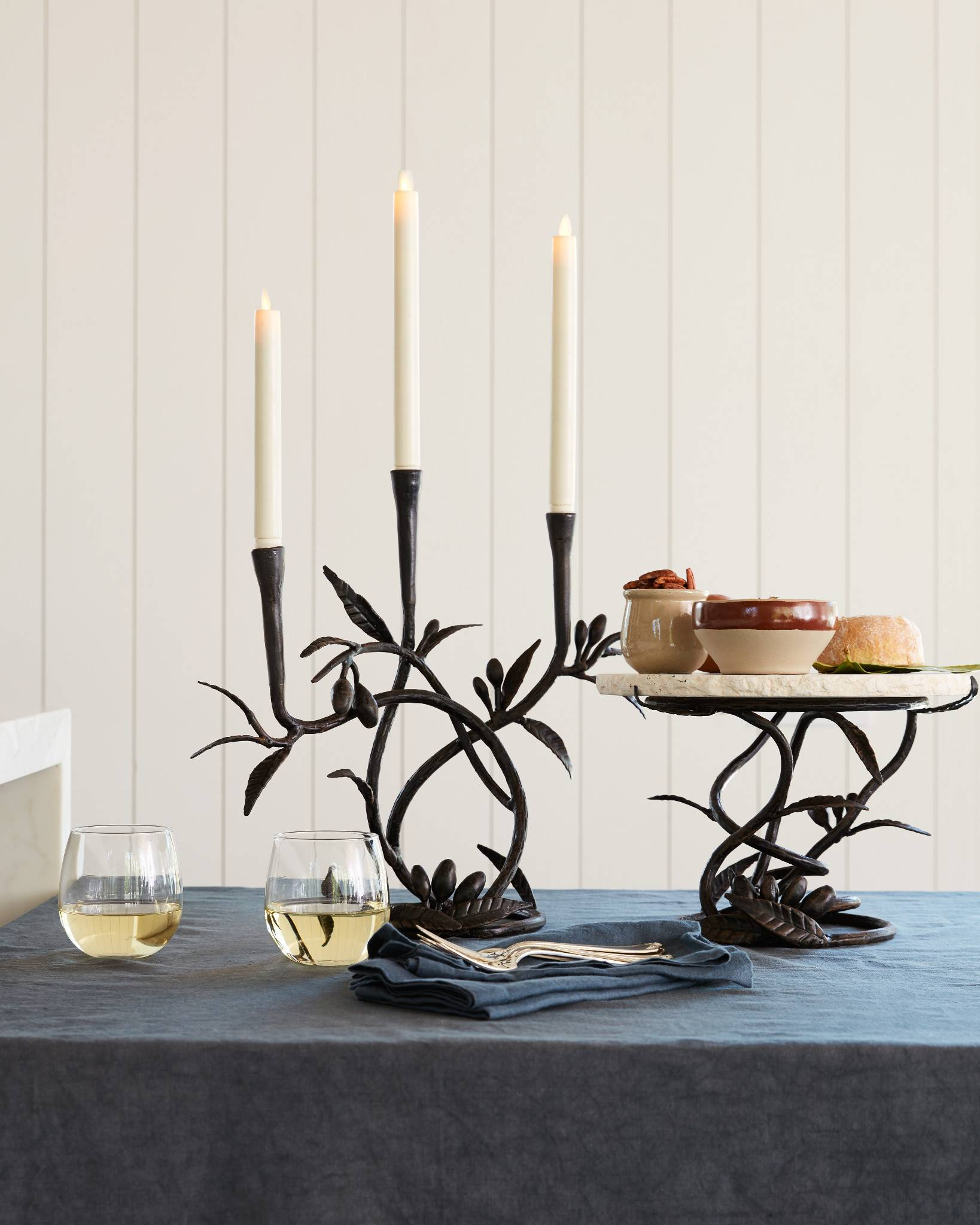 ... Miracle Flame LED Wax Taper Candles by Balsam Hill