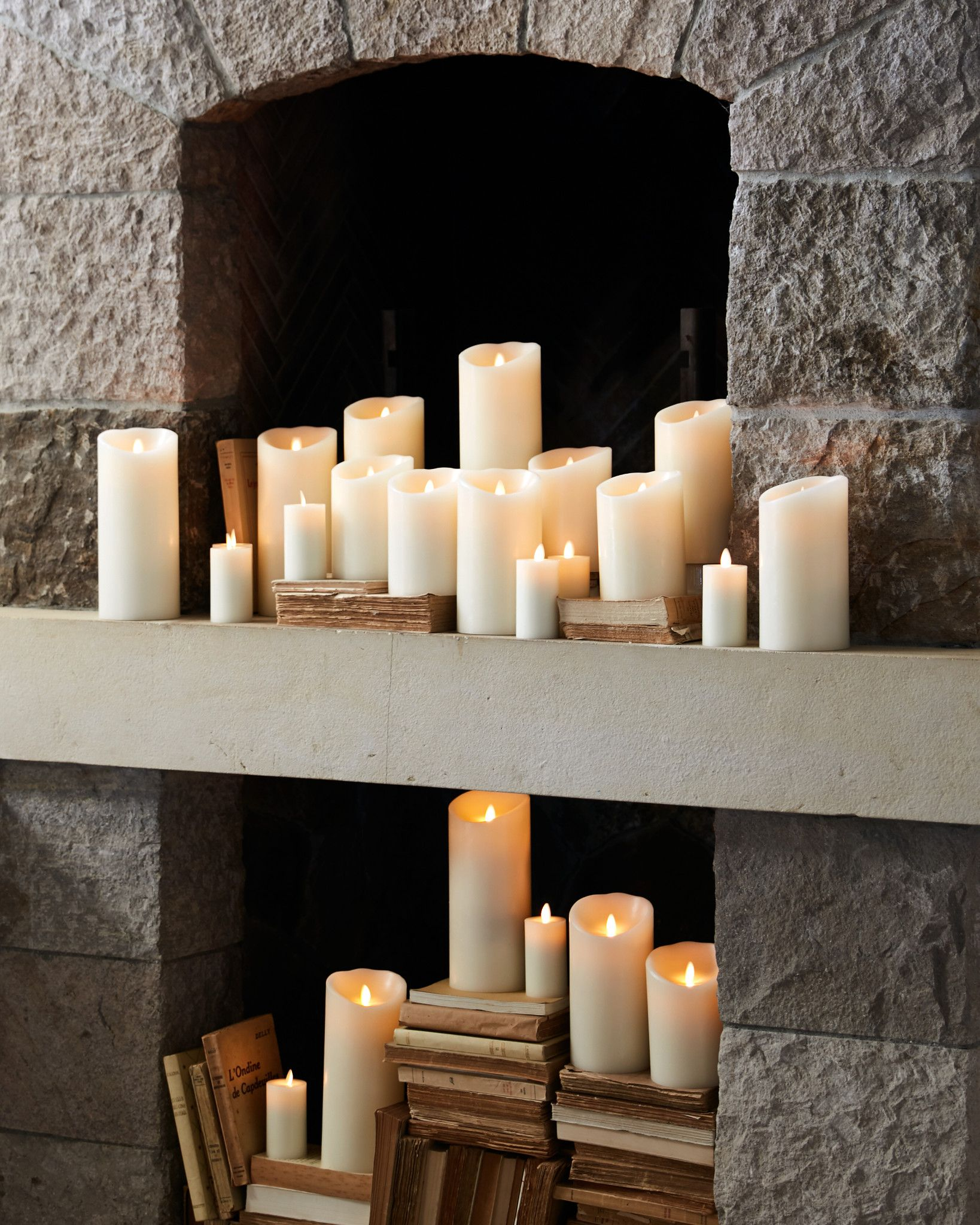 Miracle Flame LED Wax Pillar Candle