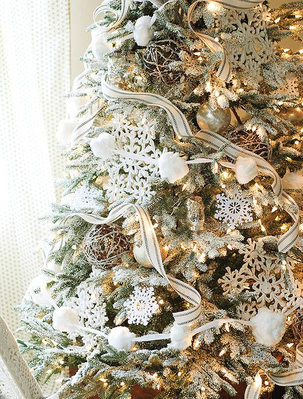 Frosted Fraser Fir Narrow Artificial Christmas Tree | Balsam Hill