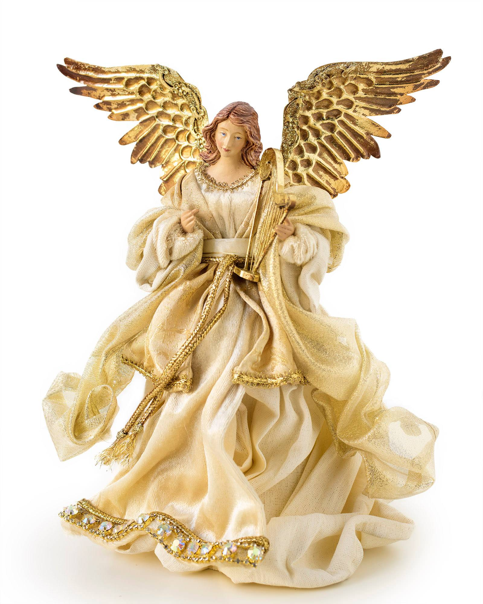 Small gold angel tree topper balsam hill