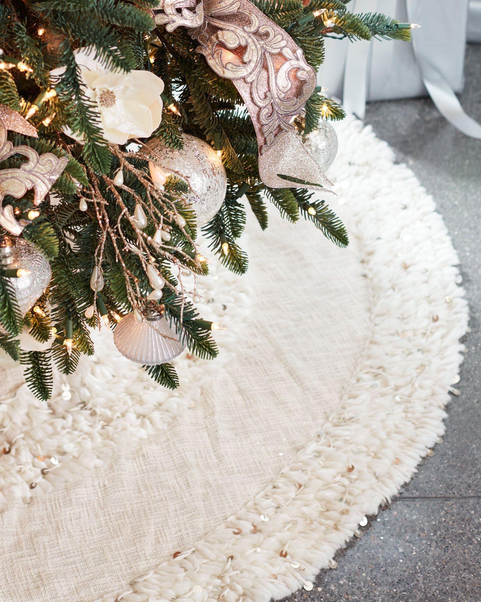 Christmas Tree Skirt Images Part - 30: Juliette Fringed Tree Skirt Main Image