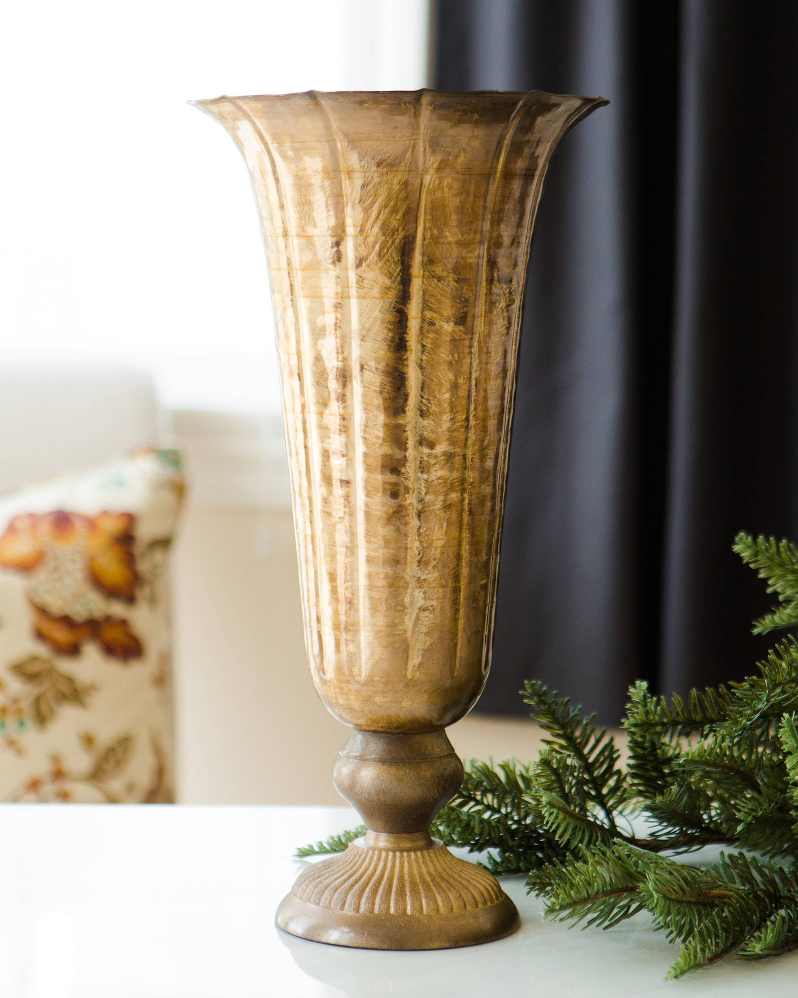 ... Fluted Gold Vase by Balsam Hill ...