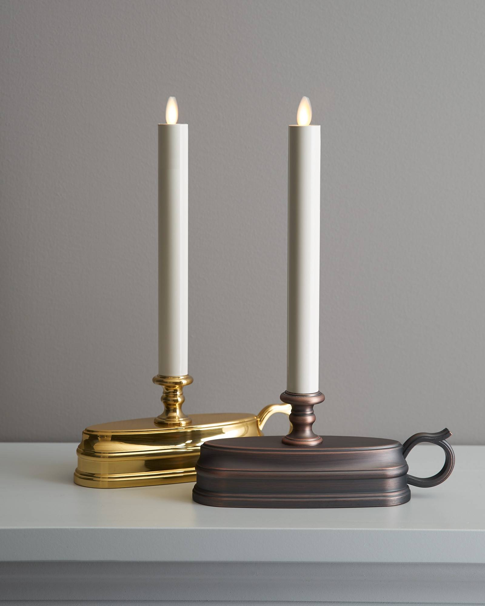 Christmas candles for windows battery operated -  Brushed Bronze Battery Operated Window Candles