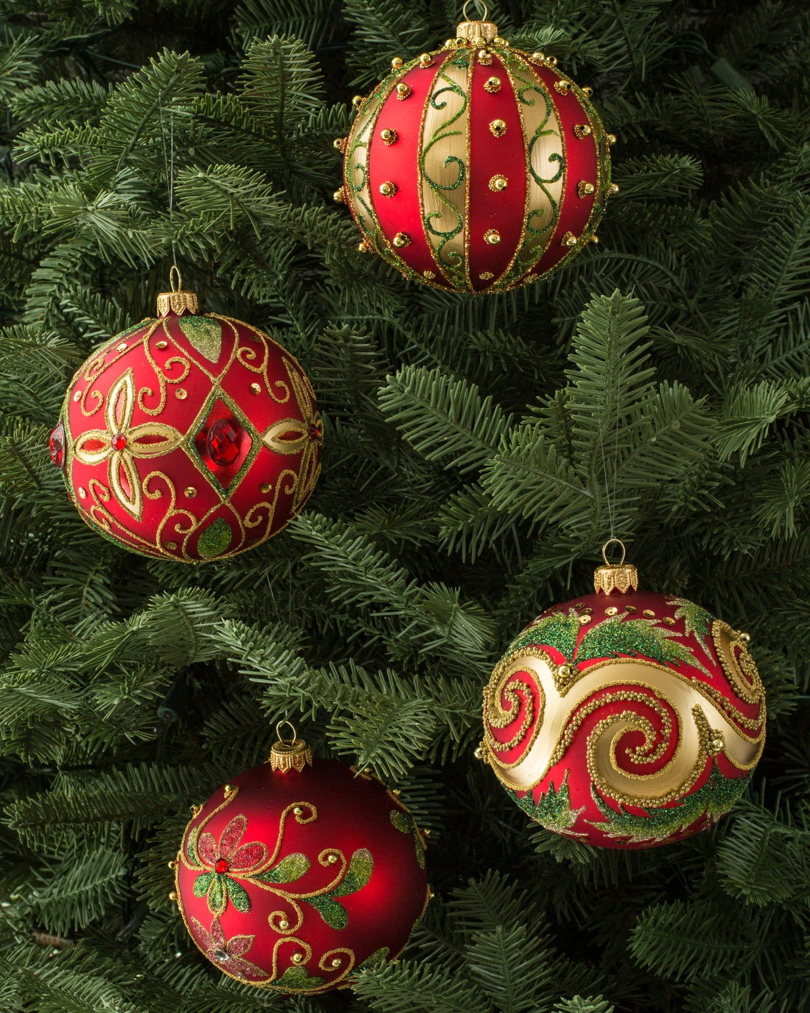 Hand Blown Christmas Tree Ornaments