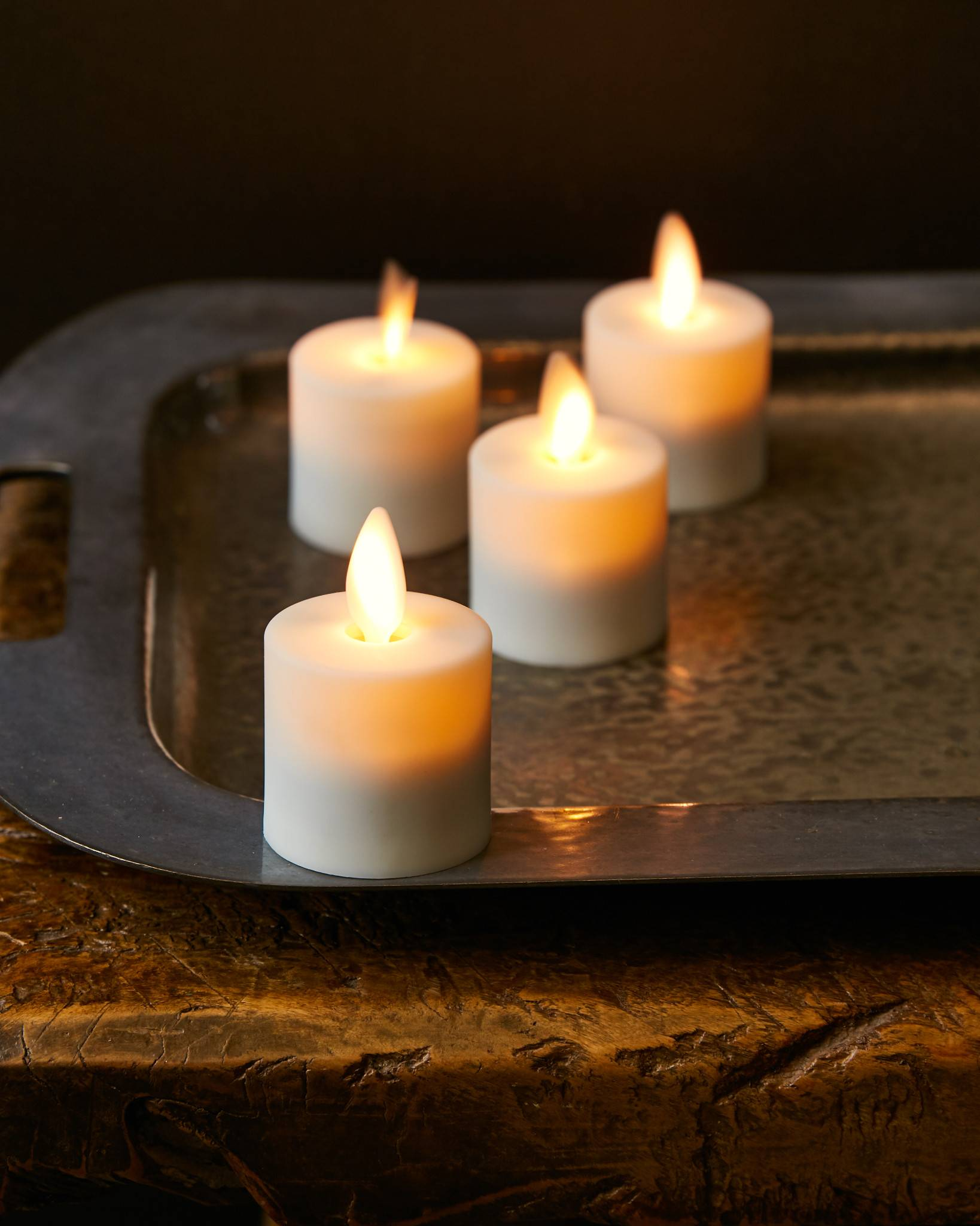 Miracle Flame LED Rechargeable Votives by Balsam Hill