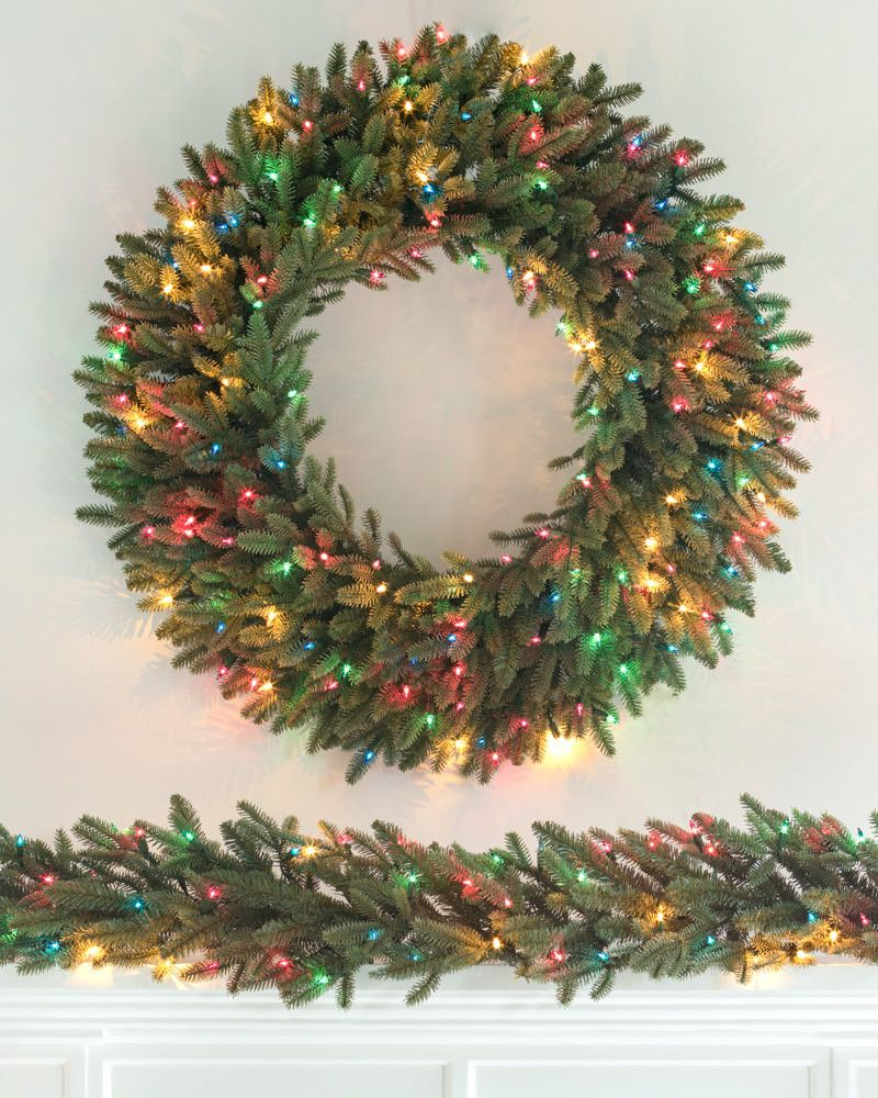 24 Cordless Led Pre Lit Christmas Wreath
