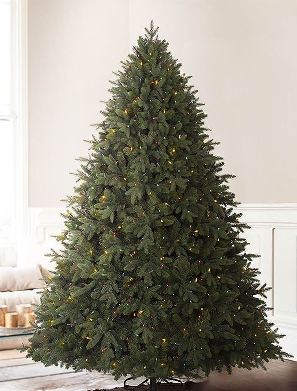 wide artificial christmas trees