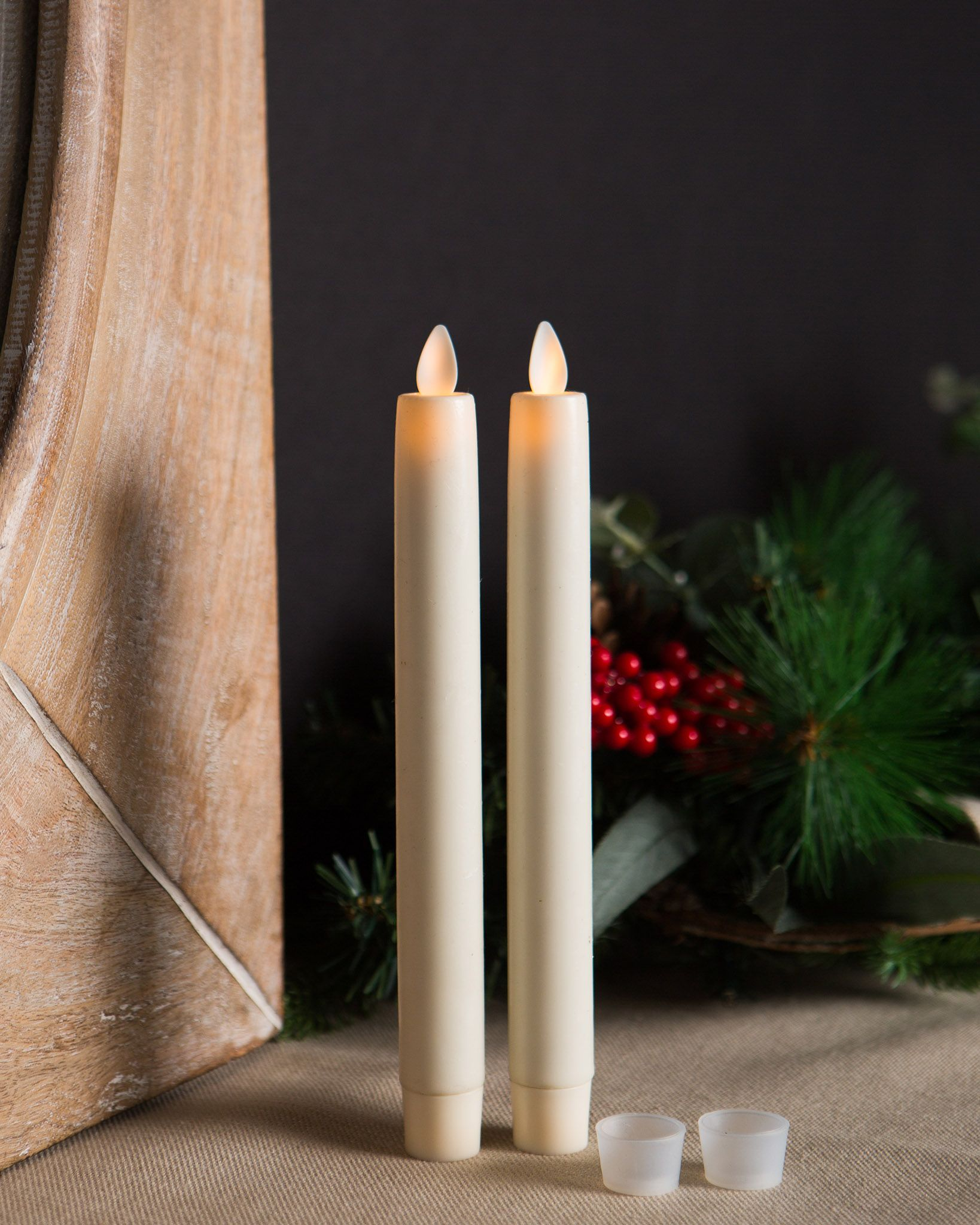 Miracle Flame LED Wax Taper Candles Balsam Hill