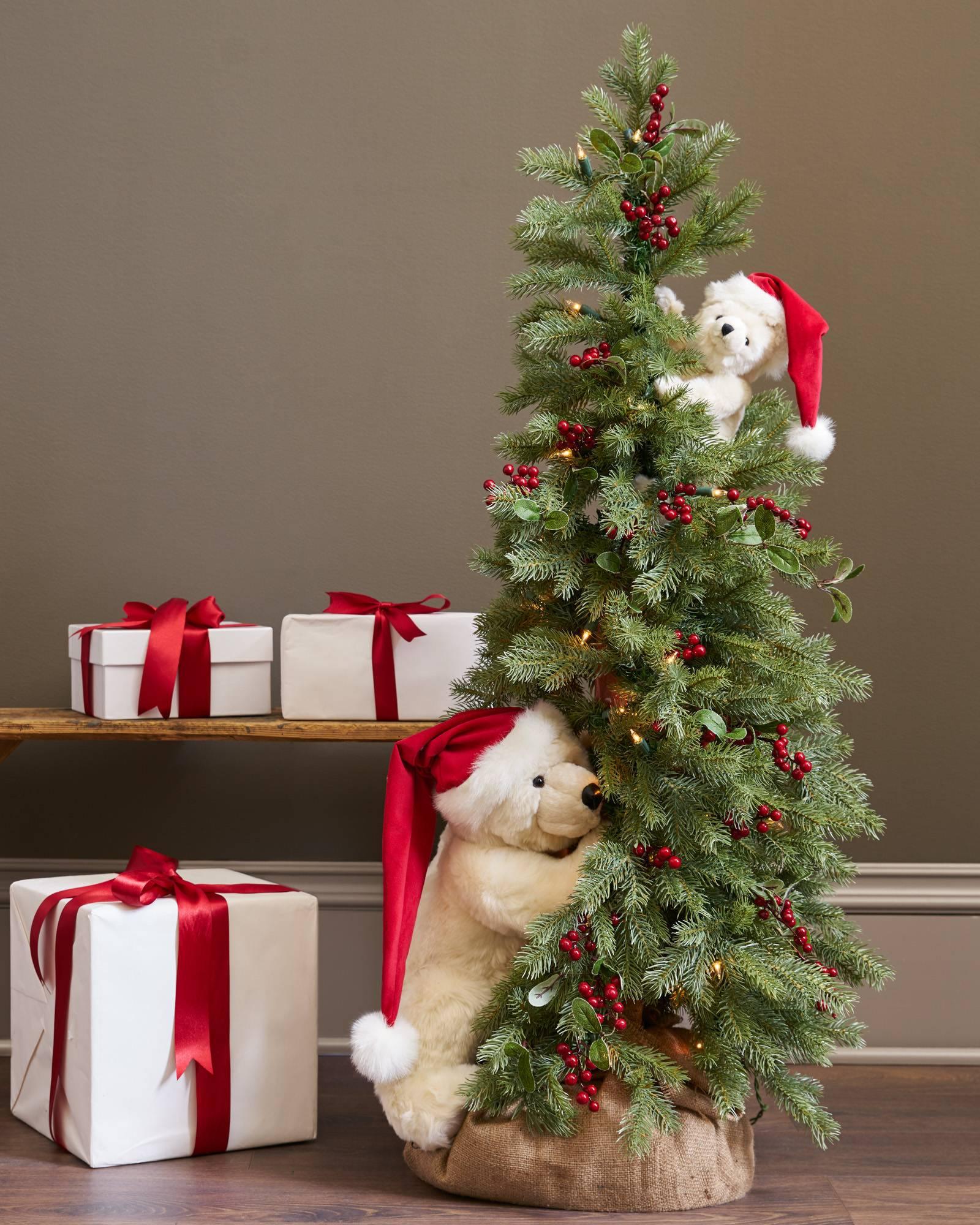 peek a boo polar bear tree main - Bear Christmas Tree