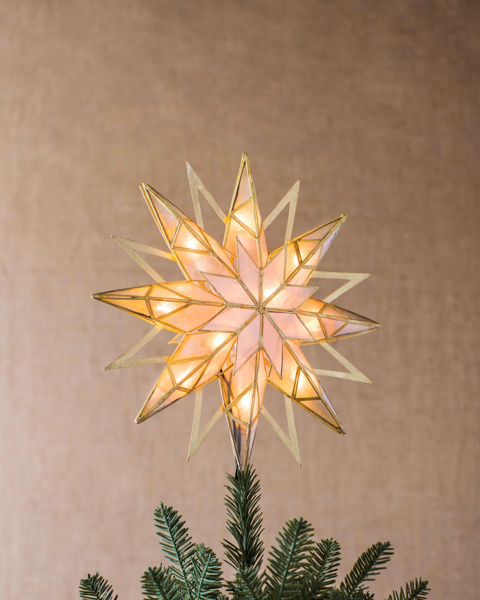 Double-Sided Starburst Christmas Tree Topper | Balsam Hill