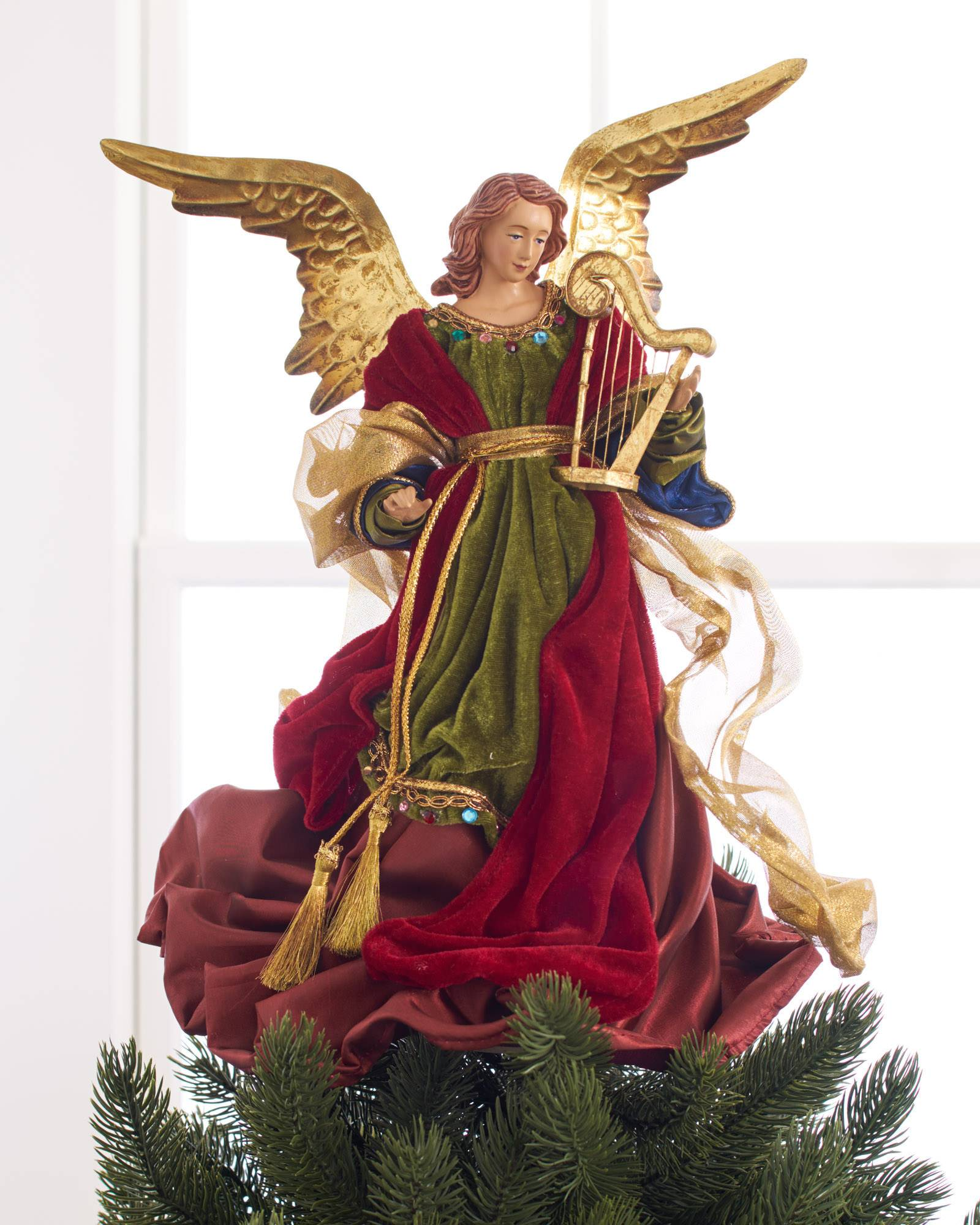 Christmas Angel Tree Topper Balsam Hill