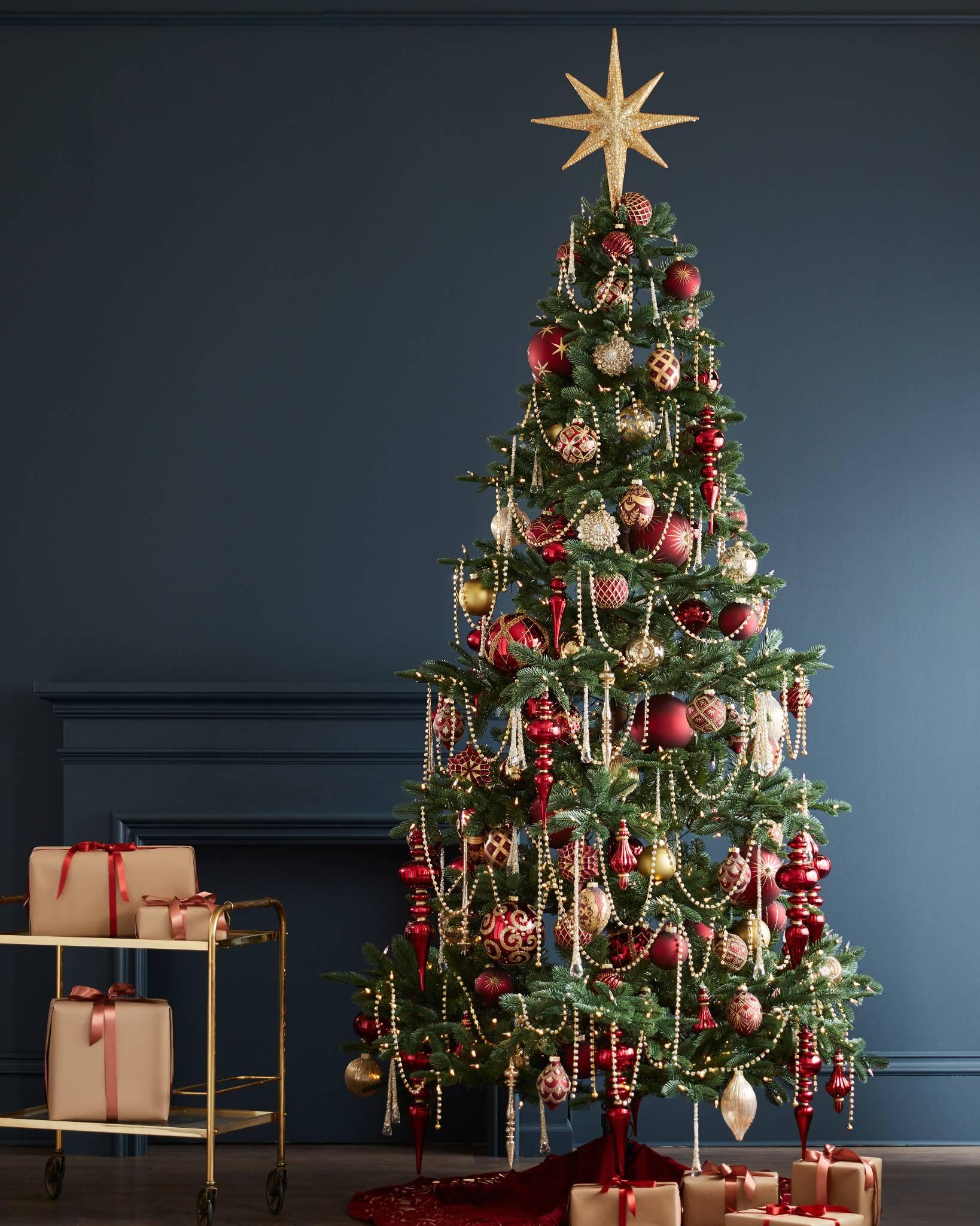 Brilliant bordeaux ornament set balsam hill