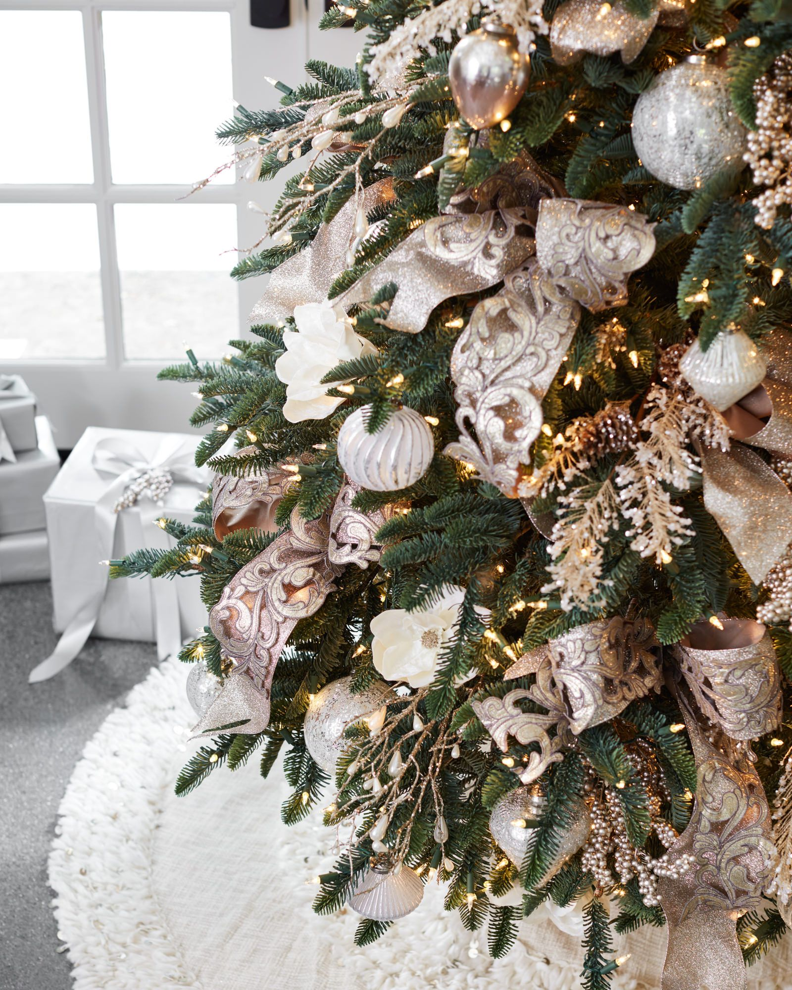 Decorated Tabletop Christmas Trees
