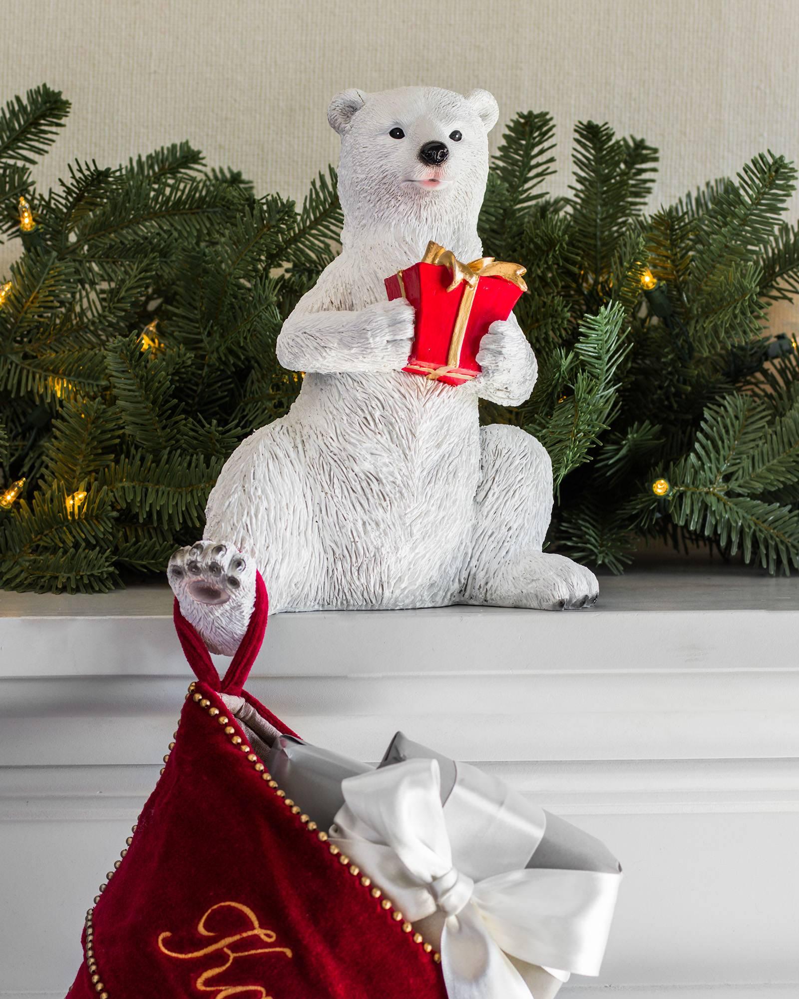 Polar Bear Family Stocking Holder Main Polar Bear Family Stocking Holder  Alt ...