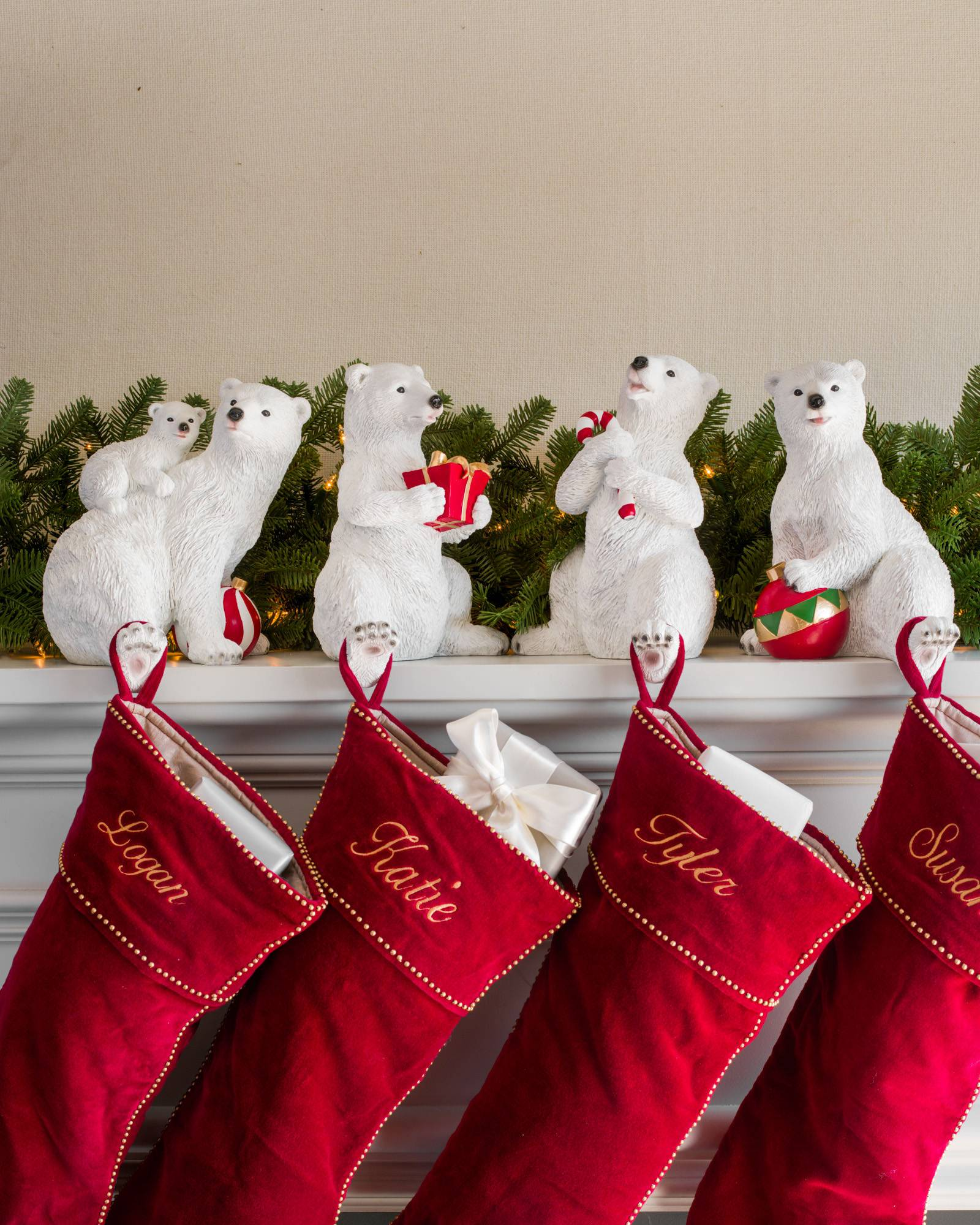Polar bear family stocking holder balsam hill polar bear family stocking holder main solutioingenieria Image collections
