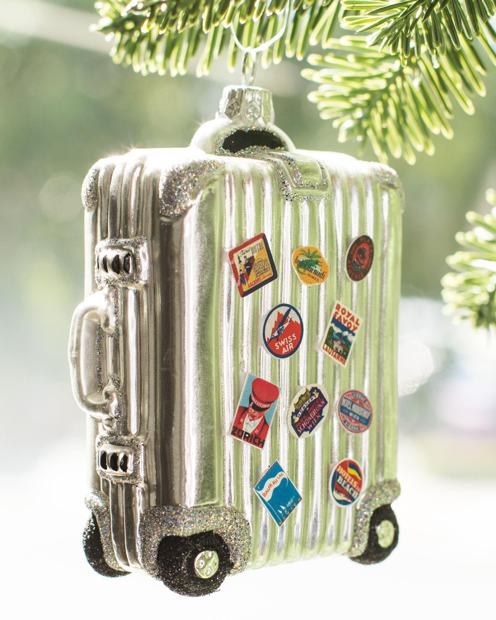 European Vintage Travel Glass Ornaments | Balsam Hill
