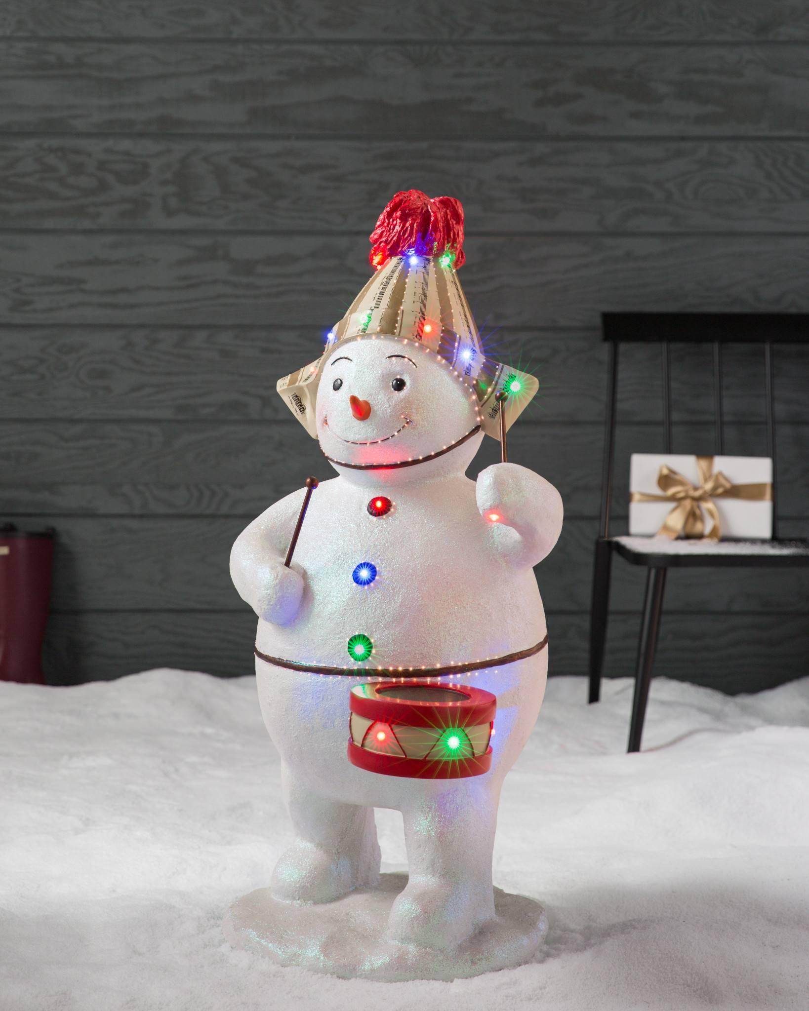 Outdoor Snowman Lights Outdoor fiber optic snowman band balsam hill outdoor fiber optic snowman with drum by balsam hill workwithnaturefo
