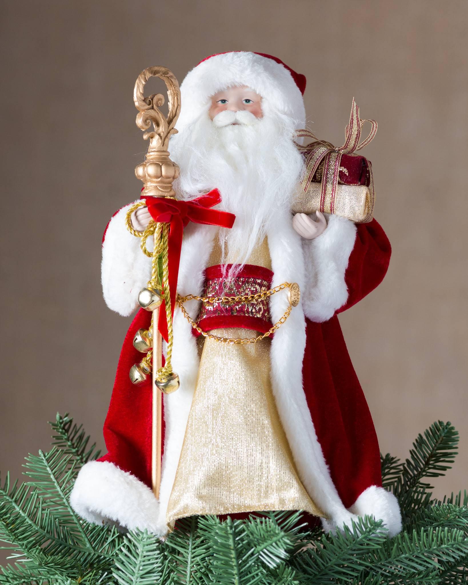 classic santa tree topper by balsam hill - Santa Christmas Tree Topper