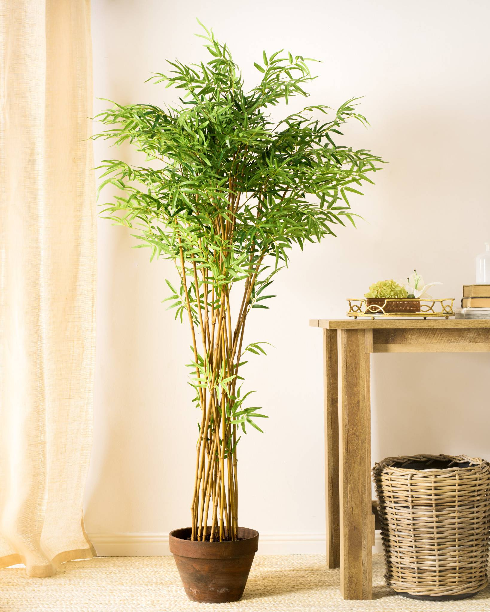 Zen Bamboo Tree Lifelike bamboo shoots in a hand-finished pot ...