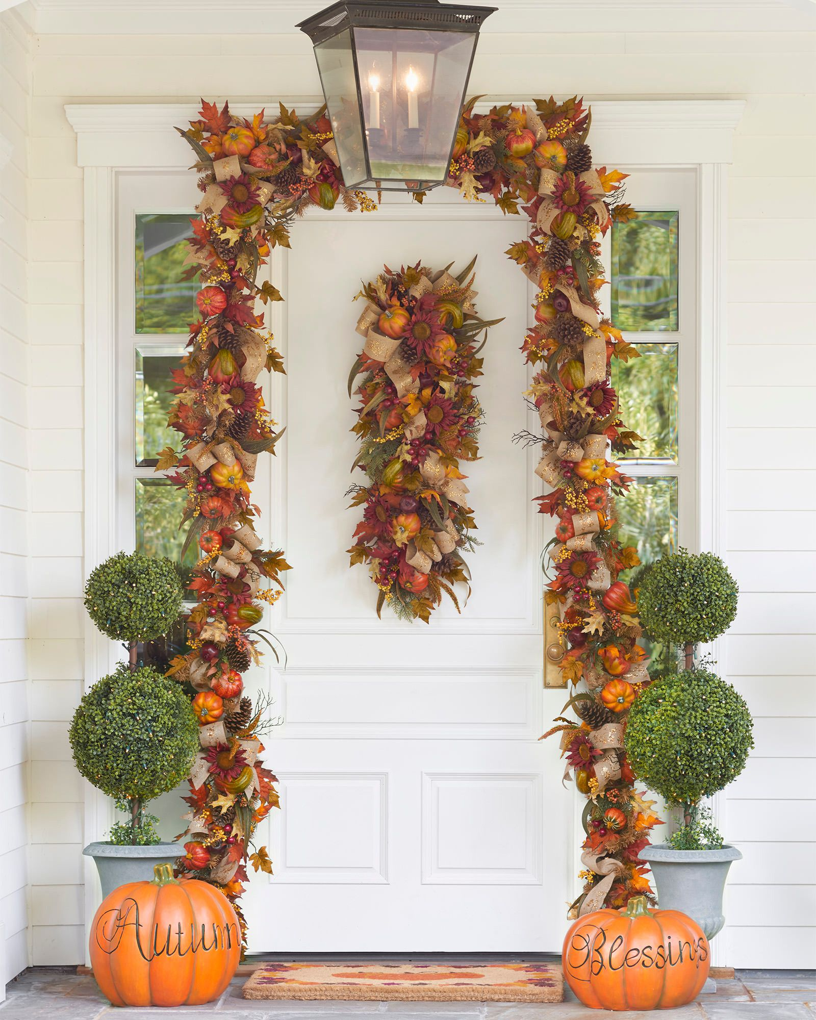 Fall Harvest Wreath, Garland and Swag