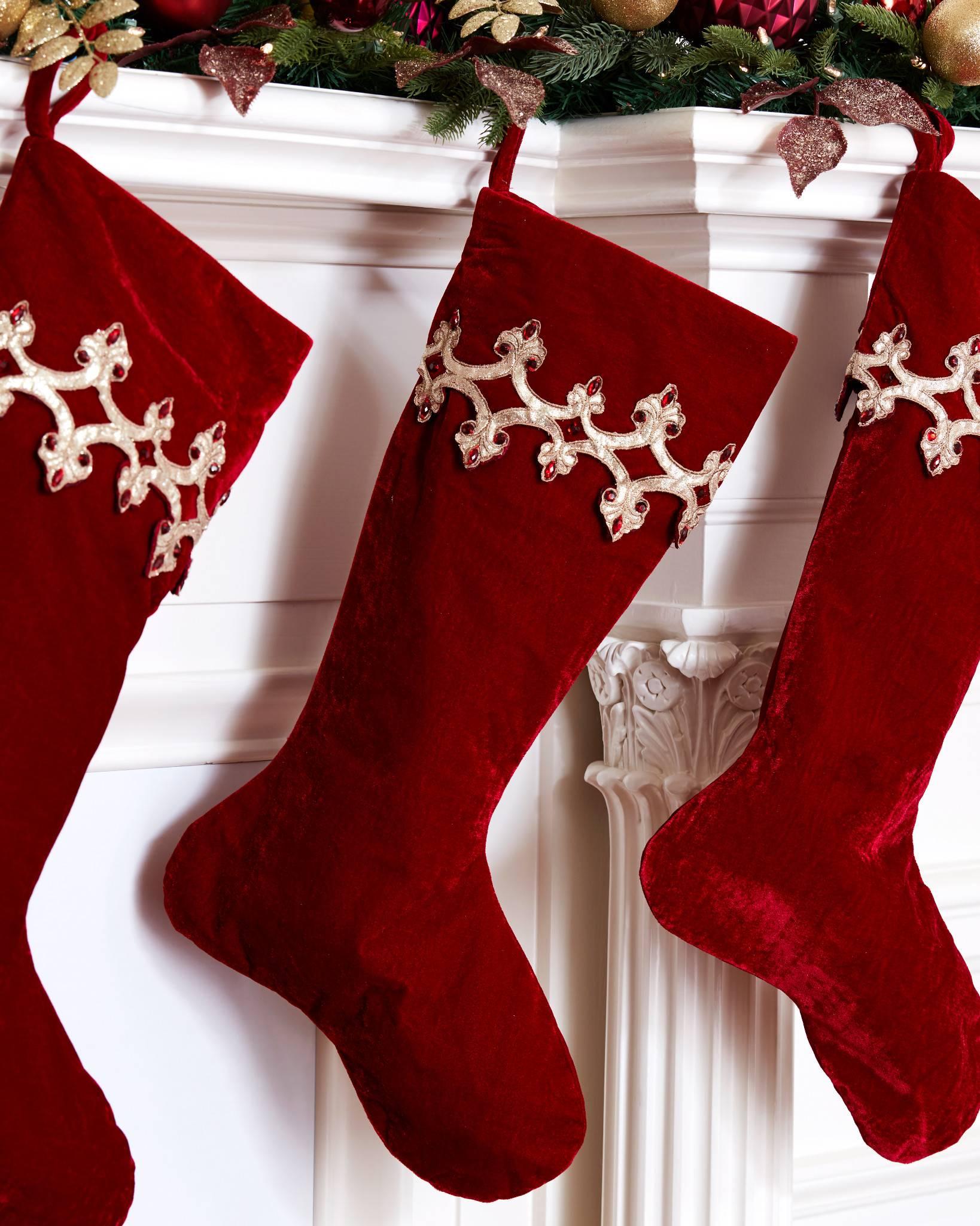 ... Royal Garnet Stocking by Balsam Hill ...