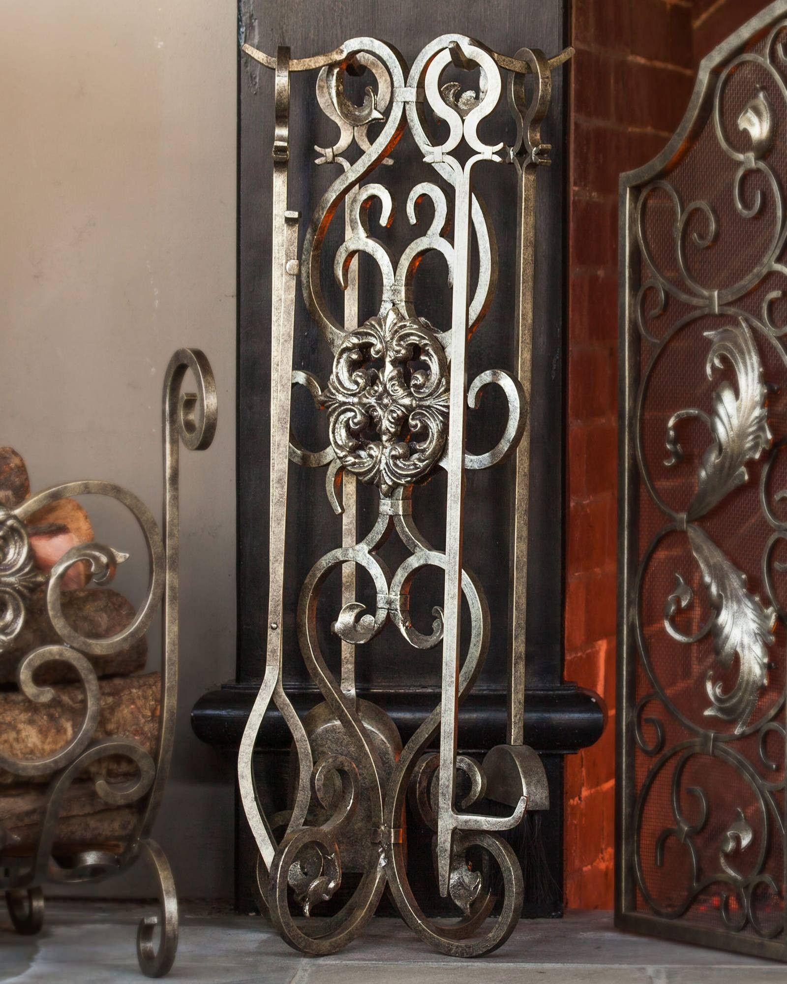 Estate Fireplace Screen & Tool | Balsam Hill