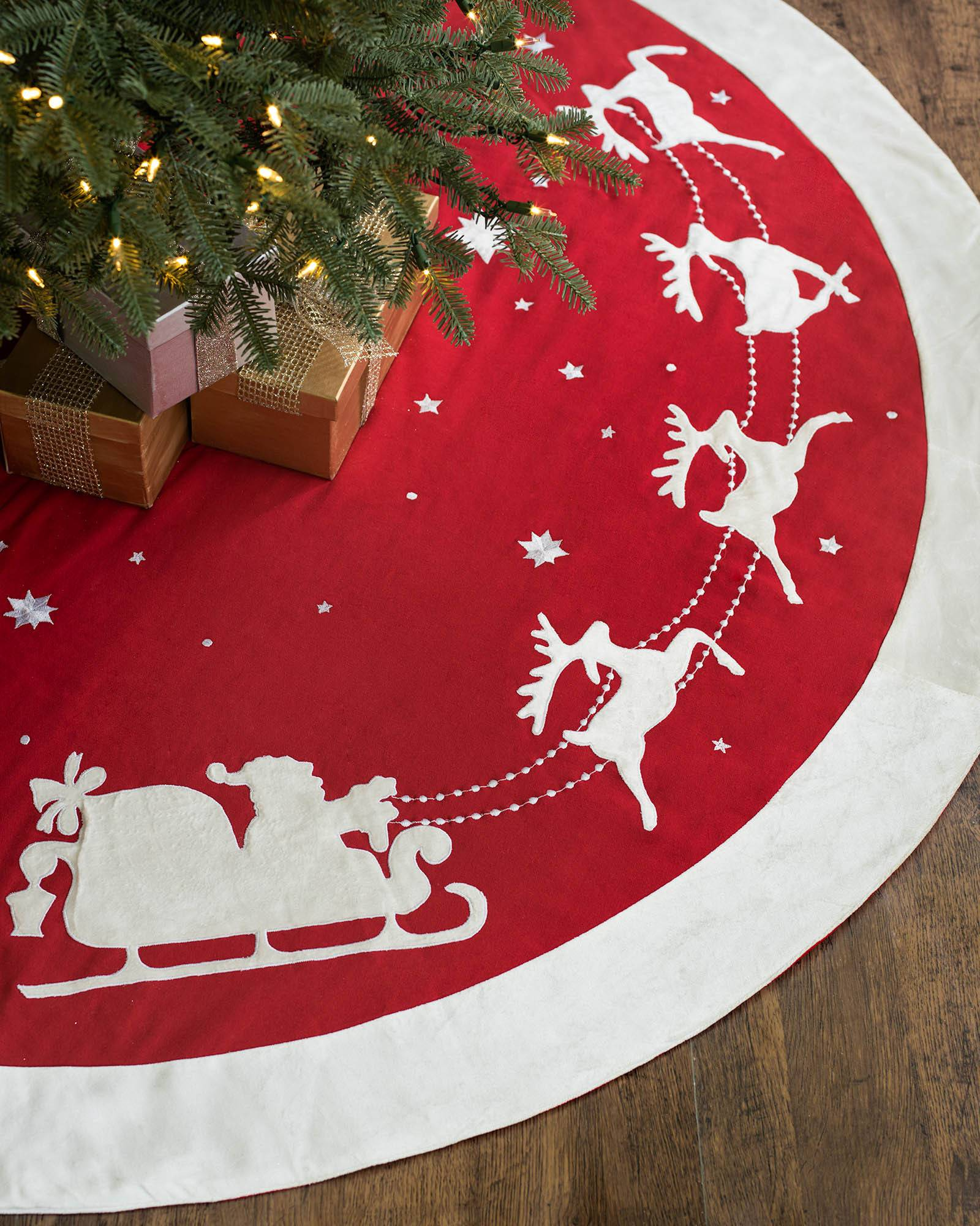 dashing through the snow tree skirt main - Christmas Tree Skirts