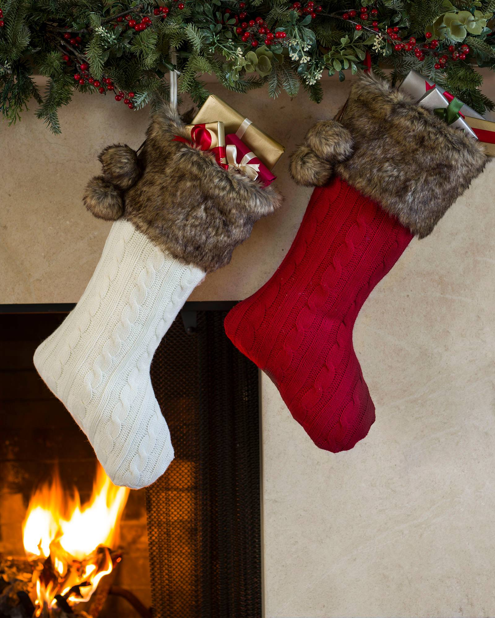 Cableknit Stockings, Set of 2 Main