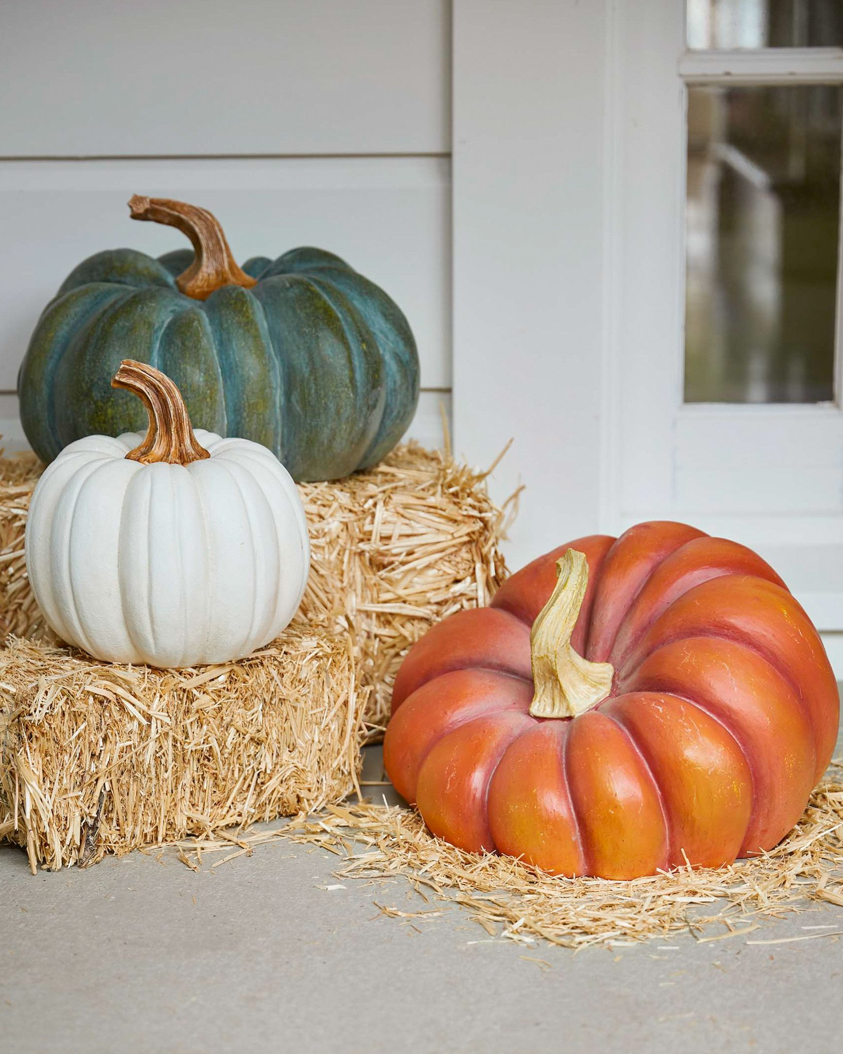 Home Accents Christmas Decorations Outdoor Heirloom Pumpkins Balsam Hill