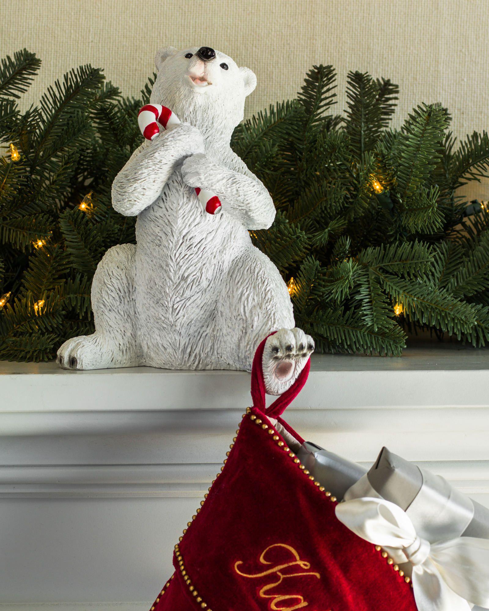 Polar Bear Family Stocking Holder   Balsam Hill