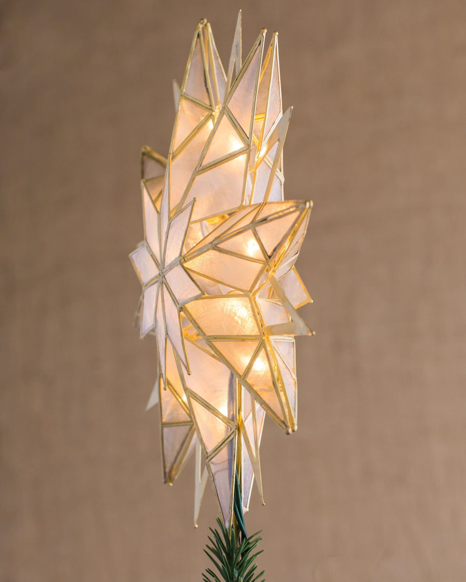 Double Sided Starburst Christmas Tree Topper Balsam Hill