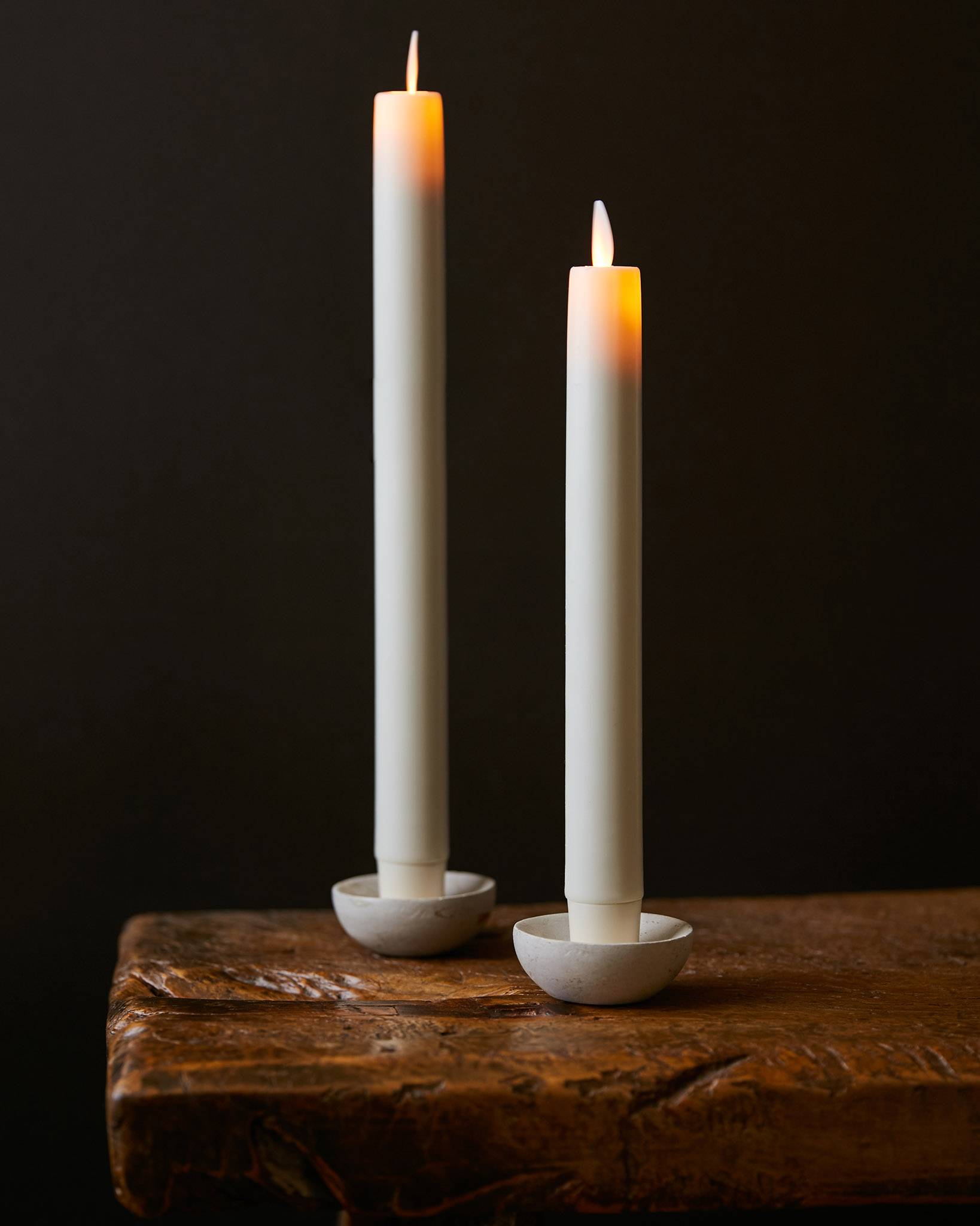 Miracle Flame LED Wax Taper Candles by Balsam Hill