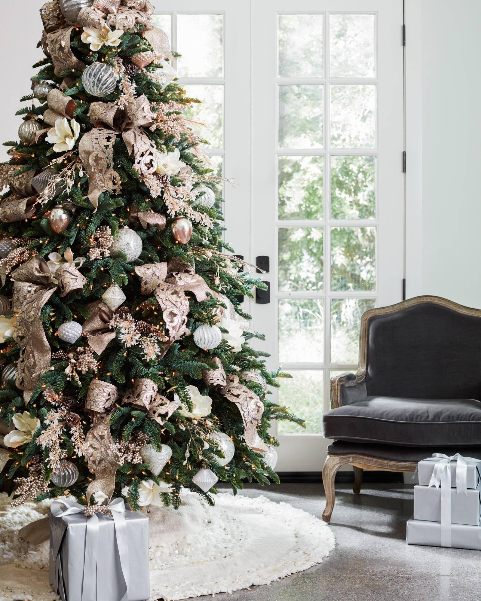 juliette fringed tree skirt alt - White Christmas Tree Skirt
