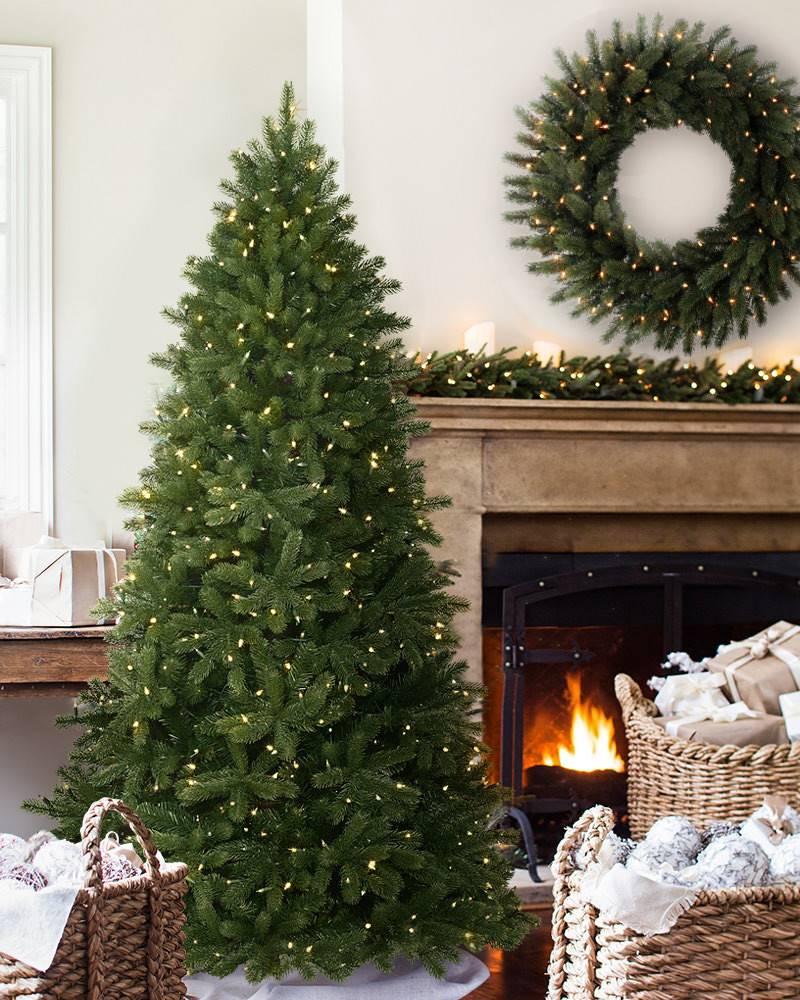Woodland Spruce Artificial Christmas Flip Tree   Balsam Hill