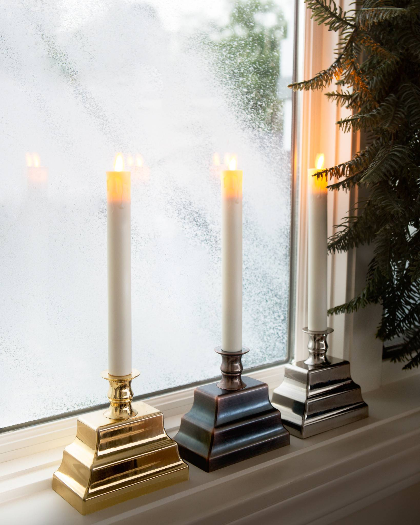 Miracle Flame LED Window Candles, Set of 2 by Balsam Hill