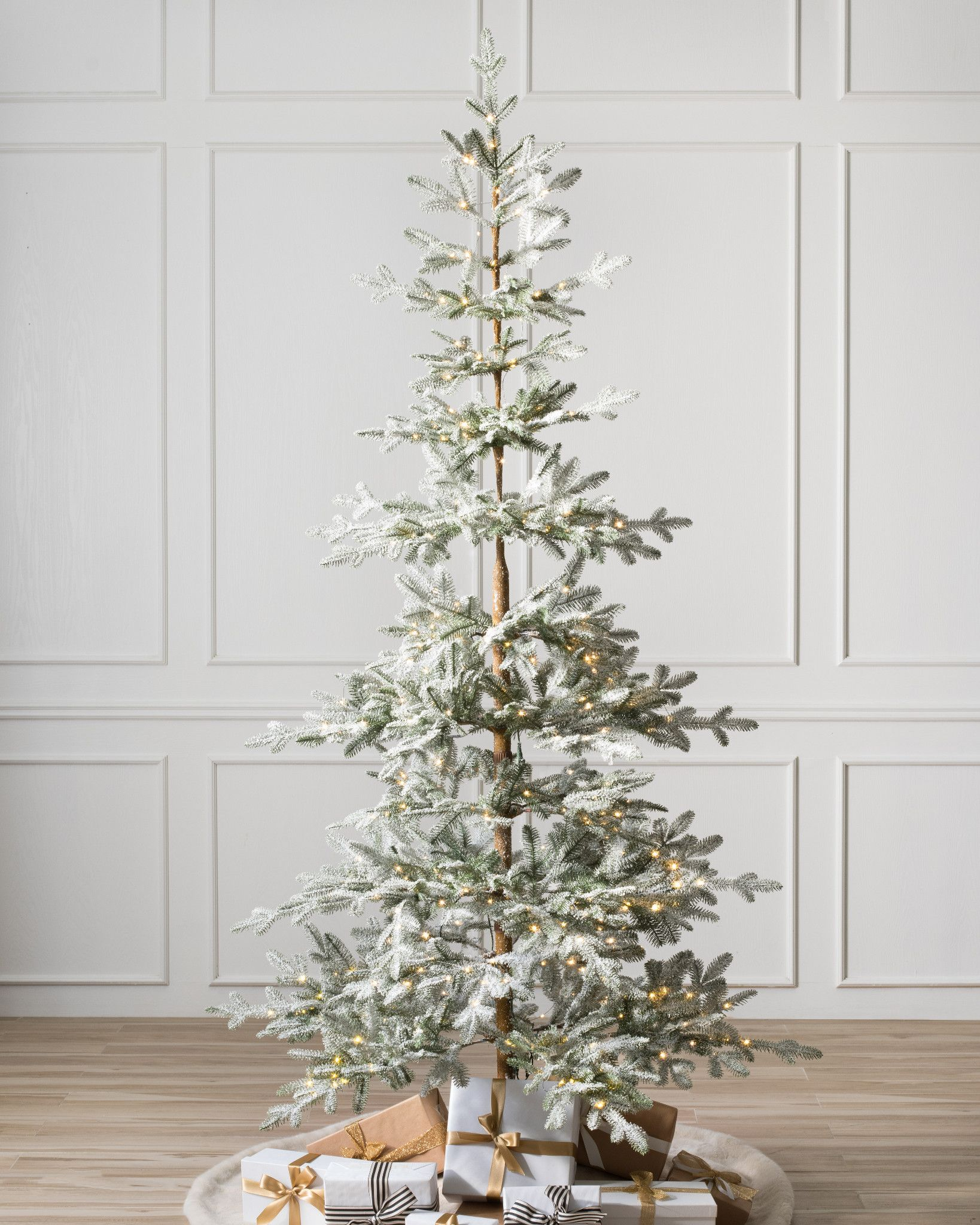 Frosted Alpine Balsam Fir Artificial Christmas Tree By Balsam Hill