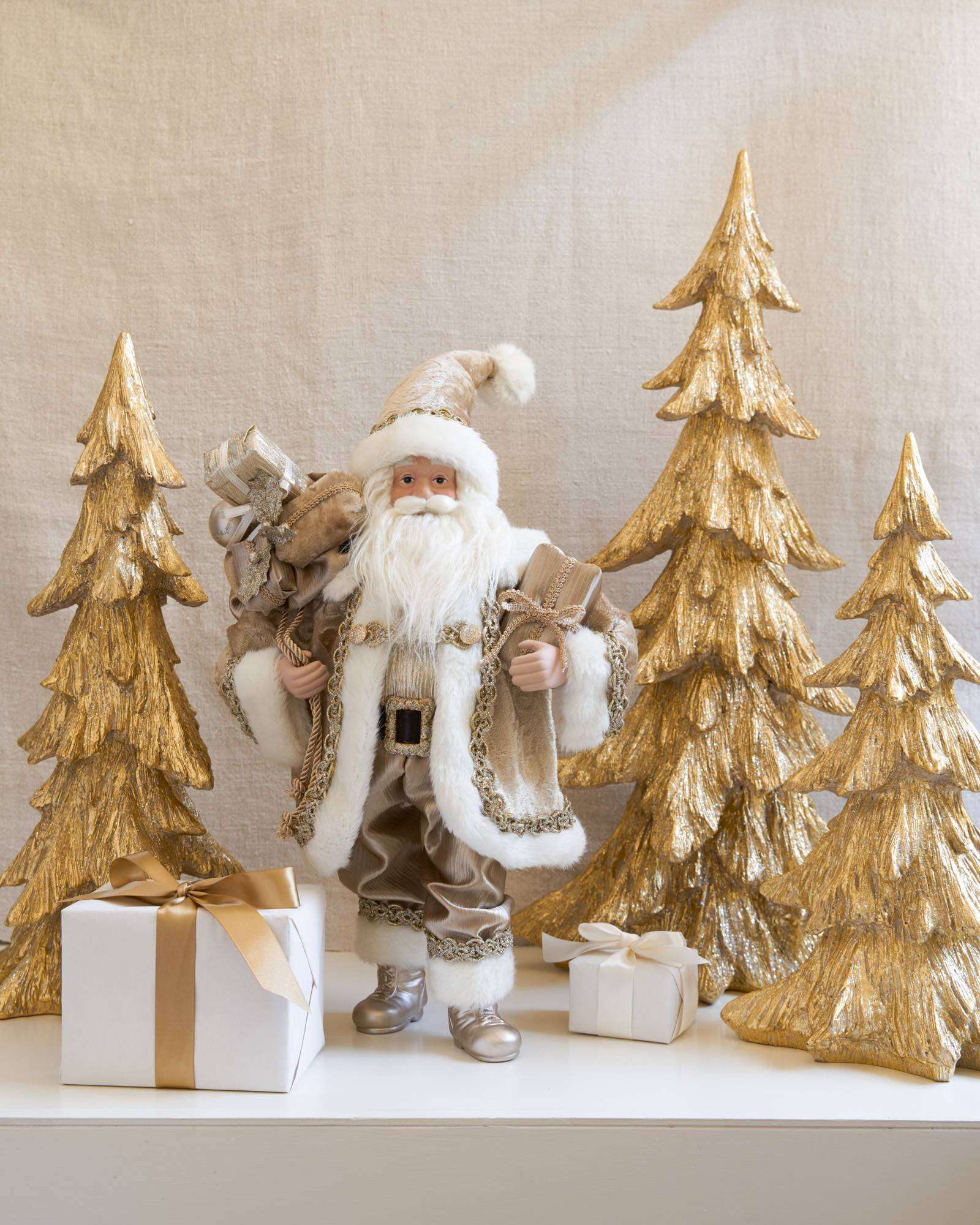 ... Golden Christmas Tabletop Trees, ...