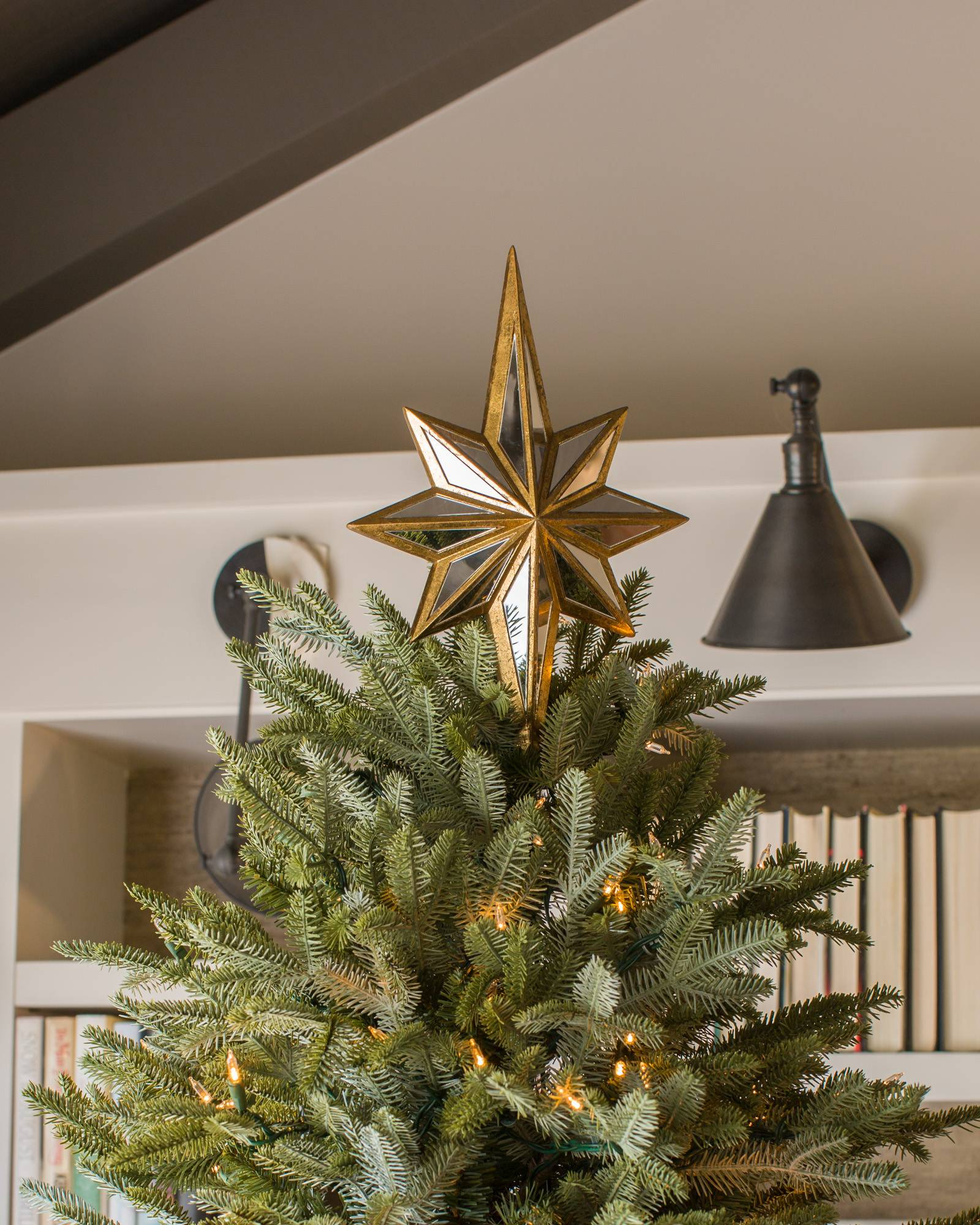 ... Double-Sided Mirrored Star Tree Topper Alt