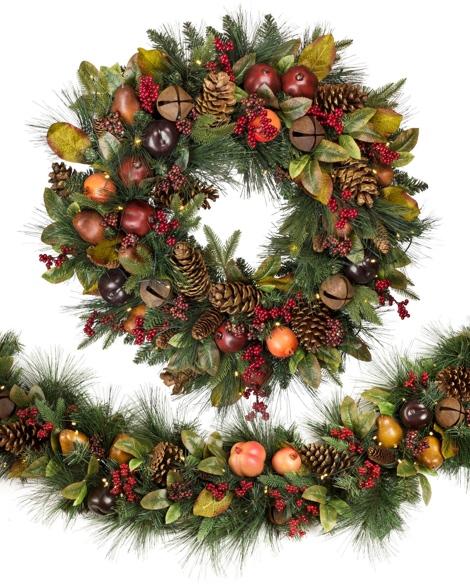 inch holiday christmas artificial depot canada categories wreath decorated wreaths the garlands en naked decor p home and