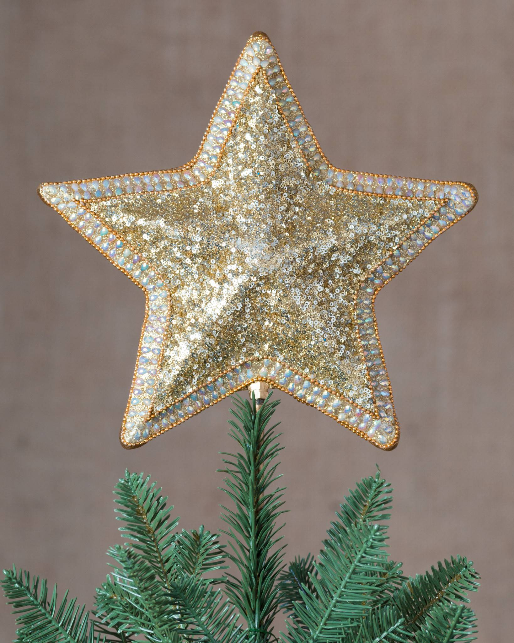 Star Beaded Tree Topper | Balsam Hill